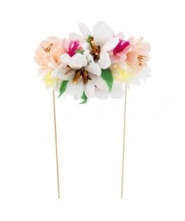Cake Toppers Bouquet de fleurs tissu & dorures