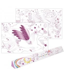 Set de 2 posters Licorne à colorier