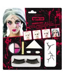 Kit Maquillage Poupée Zombie cassée Halloween