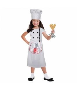 Déguisement Costume Chef cuisinier fille 997571