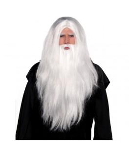 Perruque Sorcier avec barbe