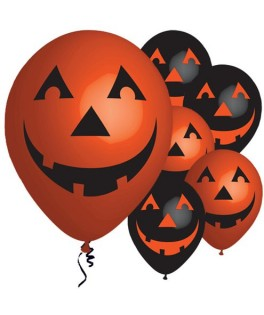 Ballons Halloween Citrouille qui sourit