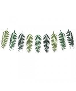 Guirlande de feuilles de palmier en papier 1,25 m
