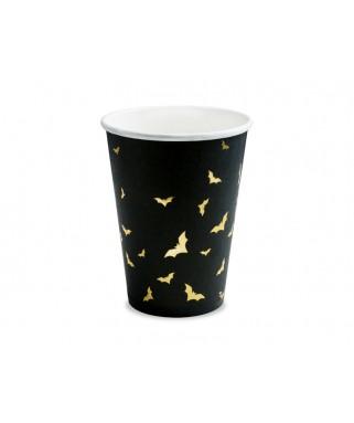 6 Gobelets noirs Chauve-souris or