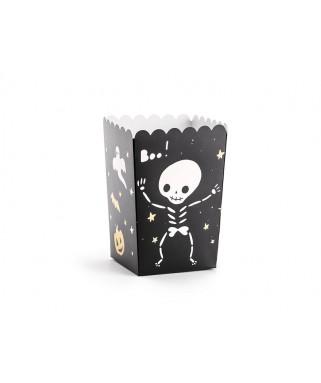 6 Boîtes à popcorn Halloween Boo