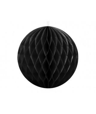 Mini boule alvéolée noire 10 cm