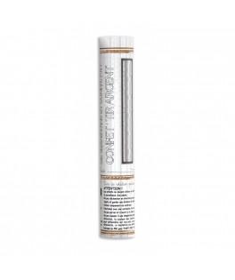 Canon à serpentins & confettis métal Argent 20 cm