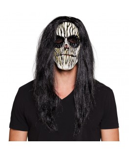 Masque latex Voodoo avec cheveux