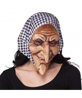 Masque Latex Sorcière avec foulard