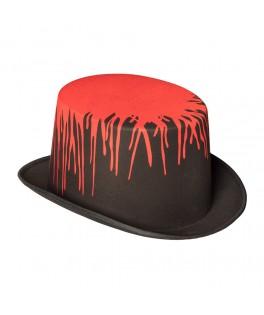 Chapeau Haut de forme noir avec sang