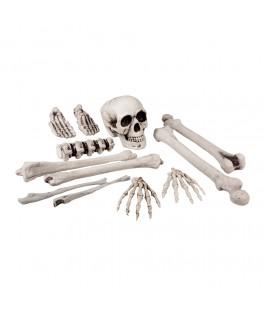 Set 12 Pieces Tête de mort et os