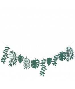 Grande guirlande Feuilles vertes tropicales 1,5 m