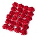 24 Mini roses sur tige - rouge