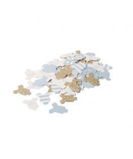 100 Confettis Body Bébé Garçon bleu ciel