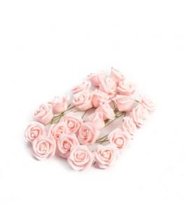 24 Roses en mousse roses 4 cm