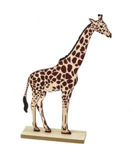 Girafe sur socle en bois