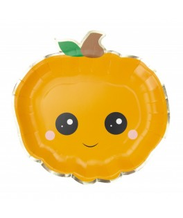 8 Assiettes Citrouille Sweety Halloween