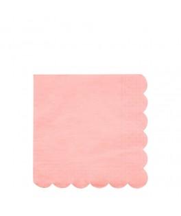 20 Grandes serviettes corail Fluo