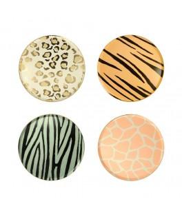 8 Assiettes motifs Safari