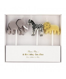 6 Bougies d'anniversaire Jungle Safari