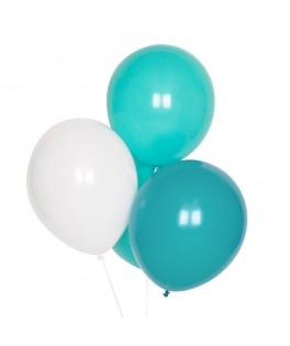 Trio de 10 ballons tons verts