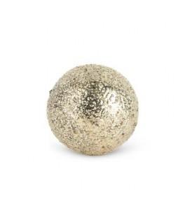 Déco boule bois platinum 7cm