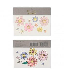 Tatouages éphémères Flower Power