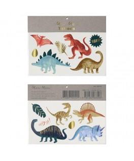 Tatouages éphémères Royaume des Dinosaures