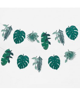 Guirlande feuilles tropicales - 3 mètres