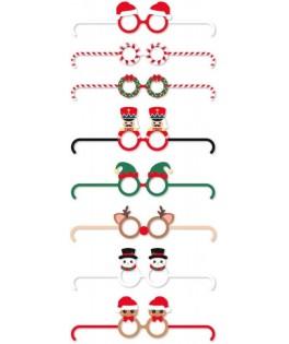 8 Lunettes rigolotes Merry Christmas