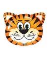 Ballon Animal tête de Tigre alu - 76 cm