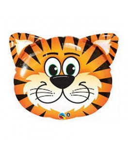 Ballon Animal tête de Tigre alu - 76 cm