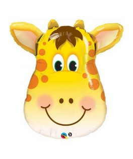 Ballon alu Animal tête de Girafe Jolly (32'' - 81 cm)