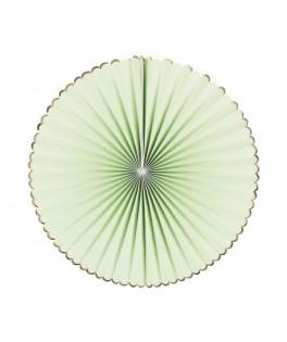3 Rosaces en papier vert pastel