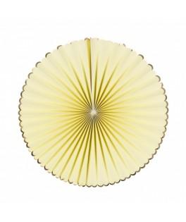 3 Rosaces en papier jaune pastel