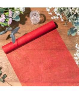 Chemin de table intissé luxe Rouge