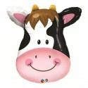 Ballon Animal tête de vache alu  - 81 cm