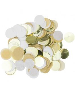 22 Pailles kraft, blanc, or