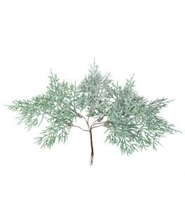 6 Branches de sapin givre &  paillettes irisées