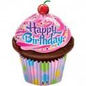 Ballon alu Cupcake Gâteau Anniversaire (35''- 89 cm)