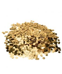 Boîte de confettis ronds métallisés or