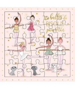 Carte Puzzle Un Ballet de Bisous