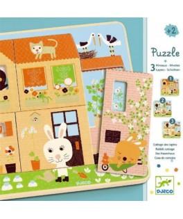 Puzzle 3 niveaux - Chez Carot DJECO