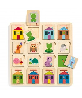 Puzzle bois Cubanimo DJECO