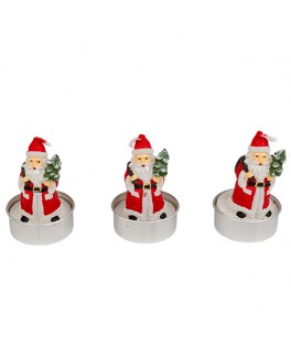 3 Petites bougies Père Noël