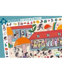 PUZZLE OSBSERVATION 35 Pièces - L'Ecole des Hérissons DJECO