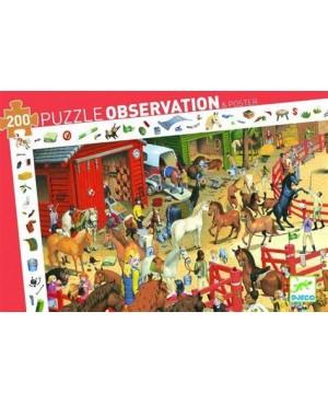 PUZZLE OSBSERVATION Equitation 200 pièces - Jungle DJECO