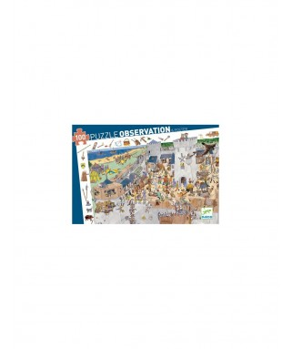 PUZZLE OSBSERVATION Chateau fort 100 pièces - DJECO