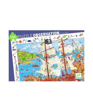 Puzzle d'observation PIRATE - 100 pièces - DJECO