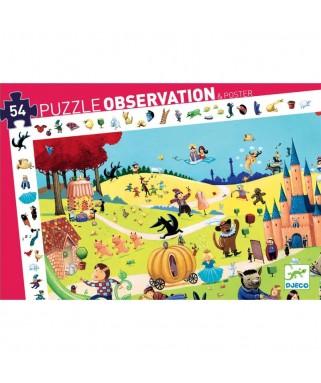 Puzzle d'observation LES CONTES - 54 pièces - DJECO